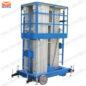 14m Three Post Hydraulic Vertical Aluminum Lift for Sale pictures & photos