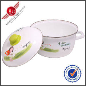 Kitchenware Eco-Friendly Enamel Cookware Sauce Pot pictures & photos