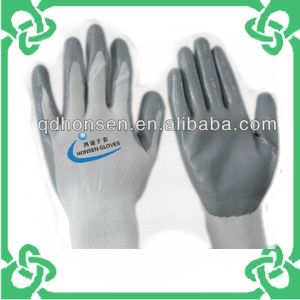Grey Nitrile Gloves of Work Gloves