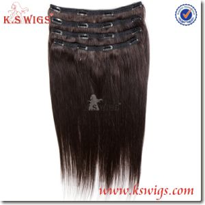Clip Hair Remy Brazilian Human Hair Extensions pictures & photos