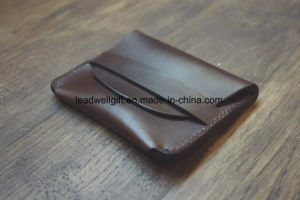 Horween Leather Flap Wallet Chromexcel Compact Wallet pictures & photos