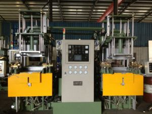 Double Station Vacuum Rubber Vulcanizing Press Machine pictures & photos