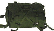British' 58 Pattern Personal Equipment Cotton Backpack Set in Olive Green