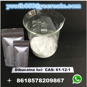 Dibucaine Hydrochloride CAS: 61-12-1 Dibucaine HCl Local Anesthetic Raw Material