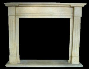 Marble Simple Line Fireplace (1447) pictures & photos