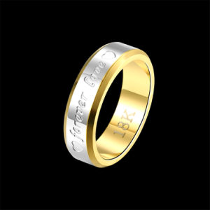2017 Fashion Jewelry Simple Double Color Forever Love Stainless Steel Ring for Men pictures & photos