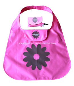 Custom Reusable Folding Tote Bag with Magic Tape Pouch pictures & photos