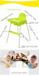 Plastic Portable Moving Sitting Free Baby High Chair Dining Chair pictures & photos