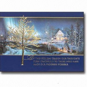 Custom Design Christmas Greeting Card