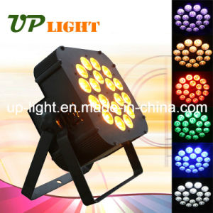 Stage Lighting 18PCS 18W Argbwuv 6in1 Flat LED PAR pictures & photos