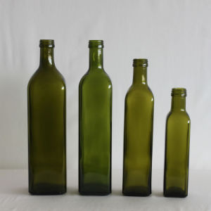 Marasca Dark Green Olive Oil Glass Bottle (V037) pictures & photos