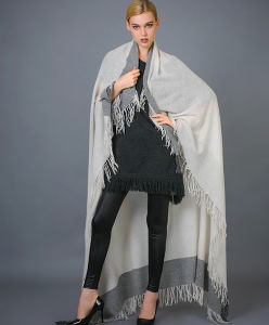 Women′s Yarn Dye Cashmere Scarf pictures & photos