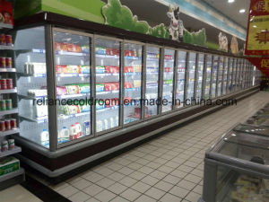 Six Glass Doors Multideck Showcases for Supermarket pictures & photos