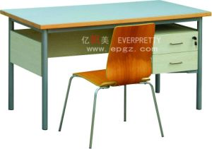 School Classroom Furniture Wooden Teacher Table with Drawer pictures & photos