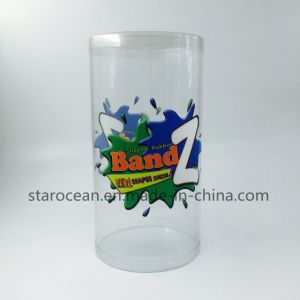 Plastic Clear Round Box with UV Pringting pictures & photos