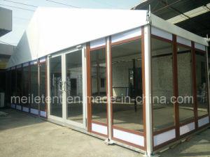 10X24m Aluminum Frame Customized Wood Texture Glass Tent pictures & photos
