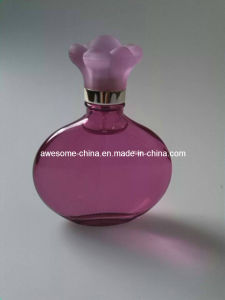 Hot Sale Glass Perfume Bottle with Flower Shape Cap
