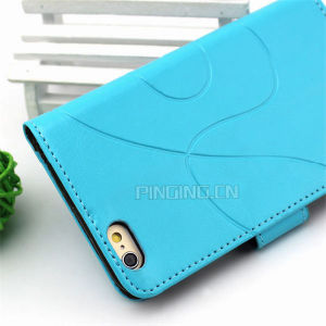 Wallet Leather Flip Card Slots Stand Case for iPhone 6/6s pictures & photos