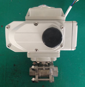 Thread 3PC Electric Ball Valve Ss304 Ss316 pictures & photos