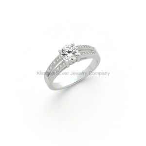 925 Sterling Silver Jewelry Diamond Wedding Ring pictures & photos