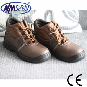 Nmsafety Cheap Genuine Leather Safety Boots Work Footwear pictures & photos