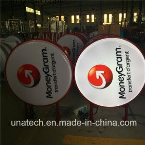 Round Money Gram Signboard Signage LED Sign Silk Printing Plastic Vacuum Light Box pictures & photos