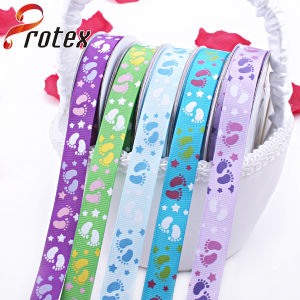 Foot Printed Grosgrain Ribbon pictures & photos