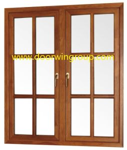 Durable Joints on The Wood Aluminum Frames, Solid Wood Aluminium Casement Windows for Africa Villa pictures & photos