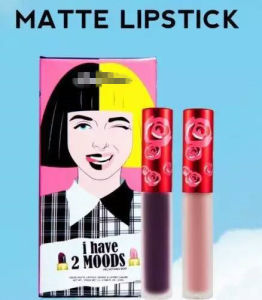 2016 Newest Waterprooof Matte Liquid Lipstick Set 2PCS/Set pictures & photos