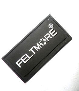 Hot Sale Classic Black PVC Rubber Label pictures & photos