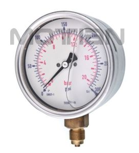4 Inchglycerin Silicon Liquid Oil Filled Bourdon Tube Pressure Gauge