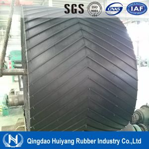Chevron Pattern Rubber Cleated Conveyor Belt pictures & photos