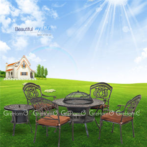 Outdoor Aluminum Table and Chair with BBQ Grill