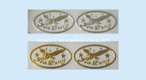 Shiny Silver Custom Nameplate Metal Sticker Label Logo Smetallic Sticker pictures & photos