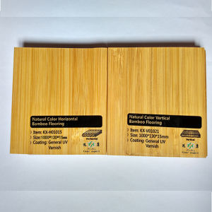 Natural Color Smooth Vertical UV Lacquer Bamboo Flooring pictures & photos