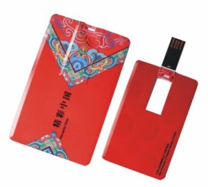 Full Color Printing USB Flash Drive Business Card Pen Drive Credit Card USB (CMT-CC015) pictures & photos