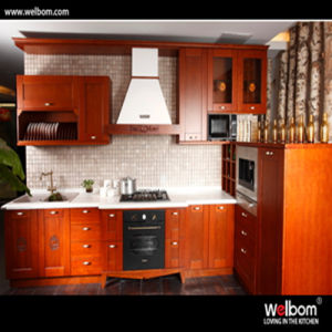 2016 Welbom American Cherry Solid Wood Kitchen Cabinet pictures & photos
