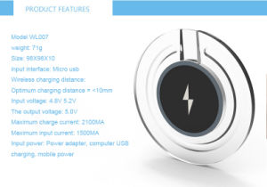 New Qi Wireless Charger for Samsung Galaxy S6 / S6 Edge/Nexus/iPhone/HTC pictures & photos