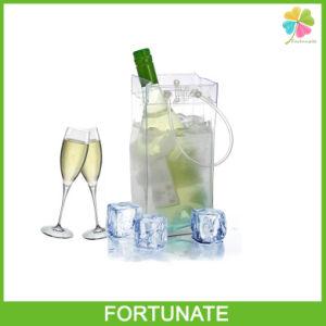 Transparent Plastic Ice Bag for Wine PVC Wine Tote Bag pictures & photos