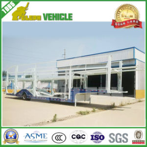 Electric Pump System Two BPW Axles Car Carrier Trailer