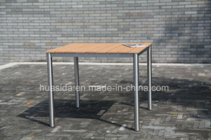 Outdoor Furniture Restaurant 4-Seats Stainless Steel Table Set pictures & photos