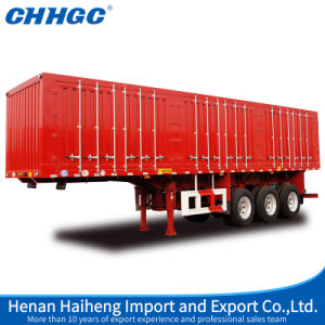 Chhgc 3 Axle Van Type Box Cargo Transport Semi Trailer pictures & photos