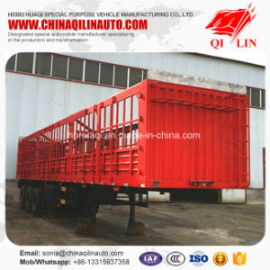 24 Tons Axle Load Rail Box Grid Truck Semi Trailer pictures & photos