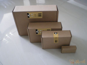 Kraft Paper Packaging Box Various of Dimensions with Label pictures & photos