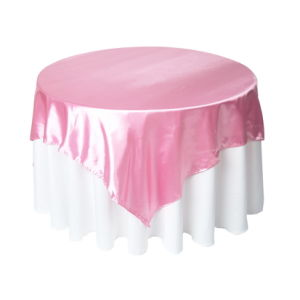 Pink Table Overlay, Wedding Table Cloth