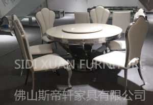Soft PU / Leather and Stainless Steel Dining Chair Home Hotel Furniture (CY083) pictures & photos