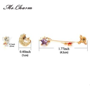 New Fashion Multiple Mixed Rhinestone Crystal Stud Earrings Custom Jewelry pictures & photos