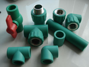 DIN Standard Green Plastic PPR Pipe Fitting with High Quality pictures & photos