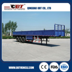 Side Wall Transport Cargo Truck Trailer with Checkered Steel Plate pictures & photos