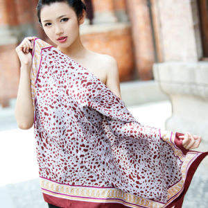 Silk Printed Shawl (12-BR110303-23) pictures & photos